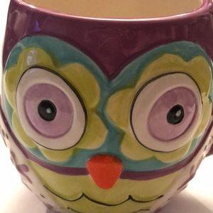 Natural Life Owl Mug purple